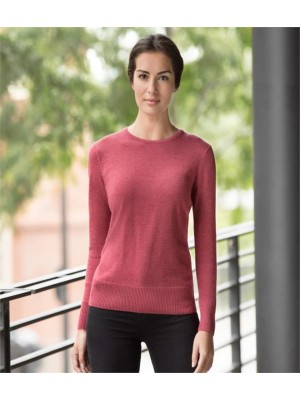 Plain LADIES COTTON ACRYLIC CREW NECK SWEATER RUSSELL 275 GSM