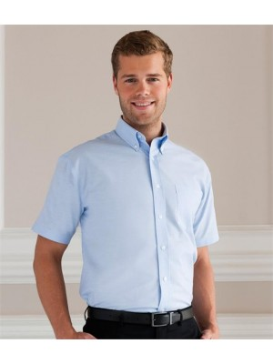 Plain COLLECTION SHORT SLEEVE EASY CARE OXFORD SHIRT RUSSELL White 130, Colours 135 GSM
