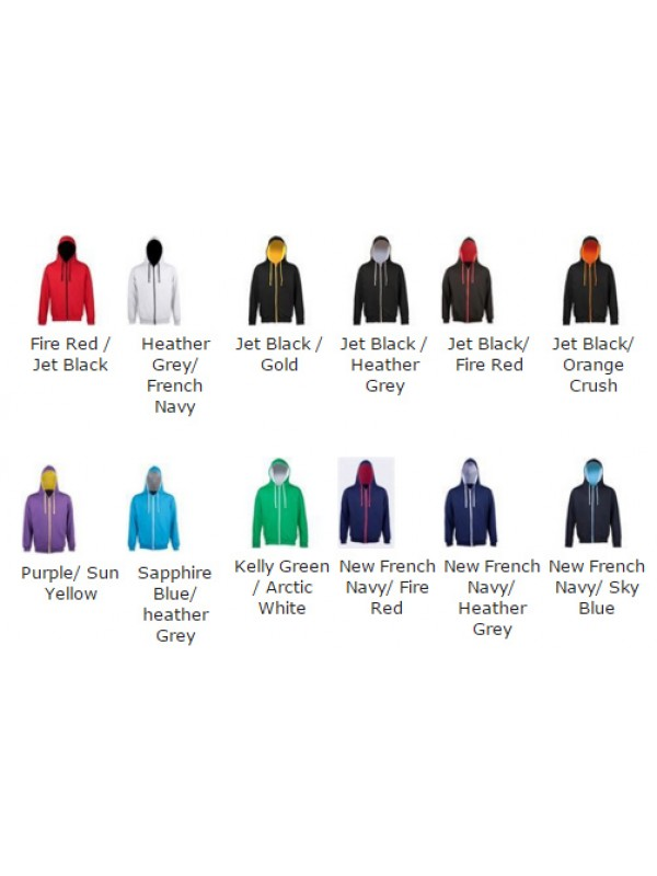 9551e63d6b7 A SNS Contrast Zip up Hoodie IN 10 colour ways