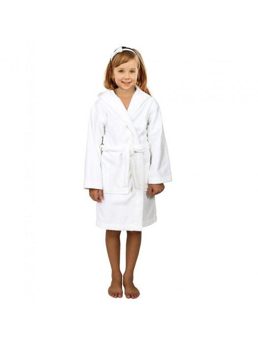 Kids HOODED Terry Towelling 100% Cotton Bath Gown 450 GSM