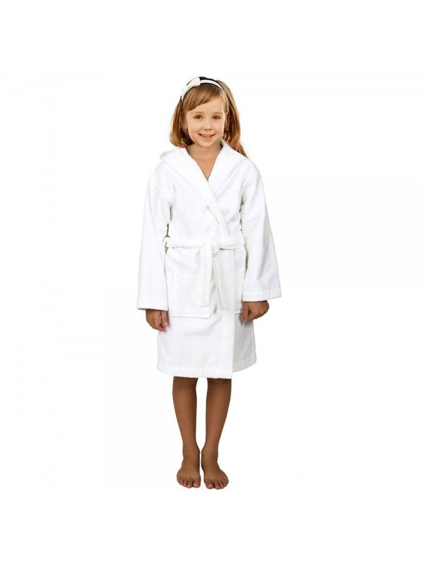 0fb94db6b2 Kids HOODED Terry Towelling 100% Cotton Bath Gown 450 GSM. Zoom