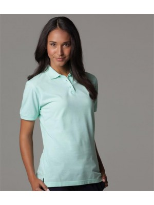 Plain LADIES KLASSIC PIQUE POLO SHIRT KUSTOM KIT 185 GSM