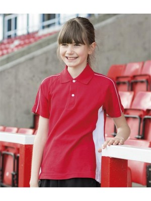 Plain KIDS SPORTS PIQUE POLO SHIRT FINDEN & HALES 200 GSM