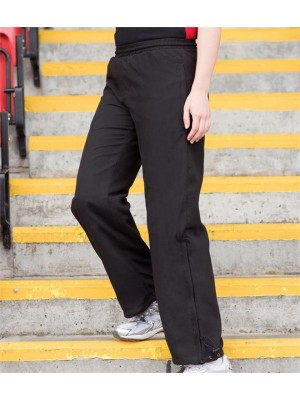 Plain LADIES OPEN HEM TRACK PANTS FINDEN & HALES 130 GSM