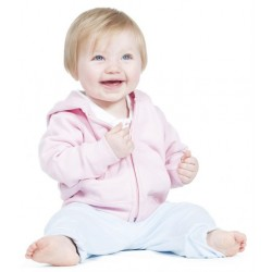Plain BABY/TODDLER ZIP HOODED SWEATSHIRT LARKWOOD 280 GSM