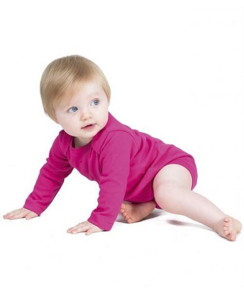 Plain LONG SLEEVE BABY BODYSUIT LARKWOOD 200 GSM