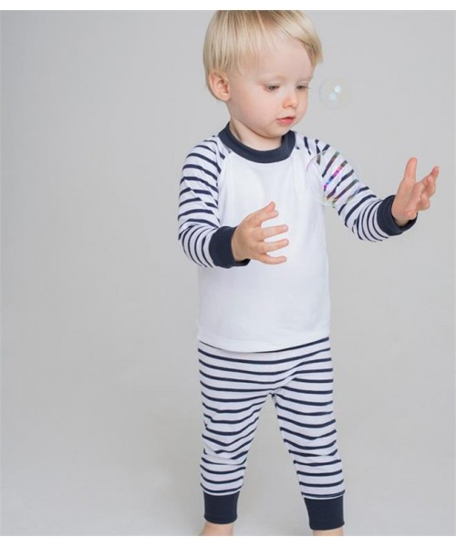 Plain BABY/TODDLER STRIPED PYJAMAS LARKWOOD 160 GSM