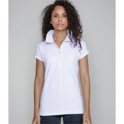 Plain BY MANTIS LADIES PIQUE POLO SHIRT SUPERSTAR 280 GSM