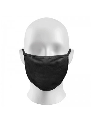 Plain Black Face Masks Protection Against Droplets & Dust