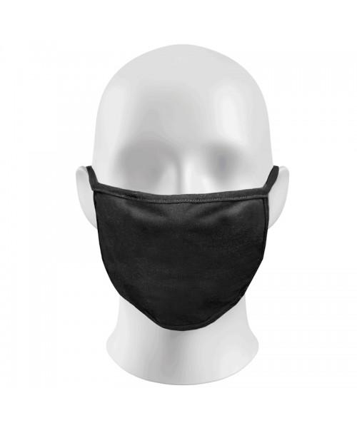 Plain Black Face Masks Protection Against Droplets & Dust