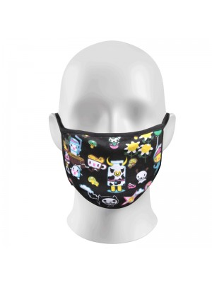 Cartoon Print Face Masks Protection Against Droplets & Dust