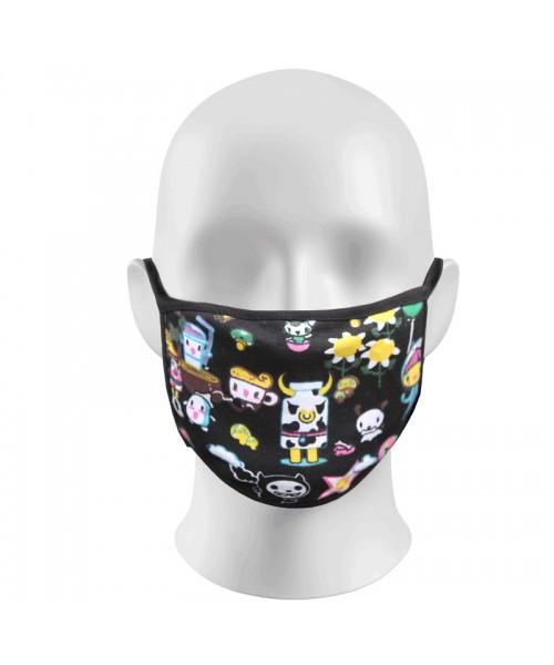 Cartoon Print Face Masks Protection Against Droplets & Dust