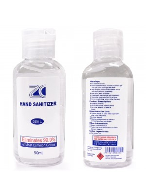 10 Bottles (PACK) x 50 ML Antibacterial Hand Sanitiser 75% Alcohol