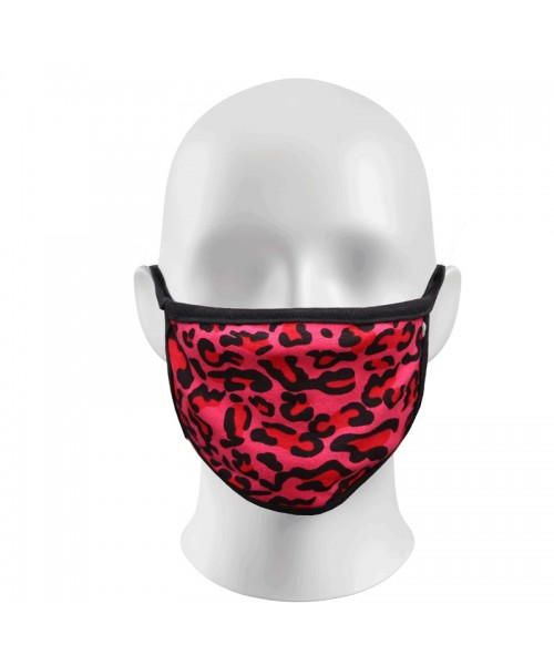 Hot Pink Leopard Face Masks Protection Against Droplets & Dust