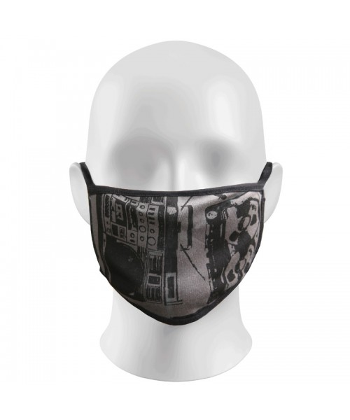 Charcoal Tape Print Face Masks Protection Against Droplets & Dust