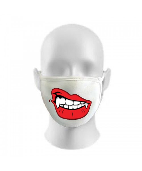 Vampire Print Funny Face Masks Protection Against Droplets & Dust
