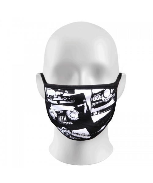 White Face Print Masks Protection Against Droplets & Dust