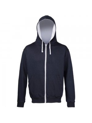 A SNS Contrast Zip up Hoodie IN 10 colour ways