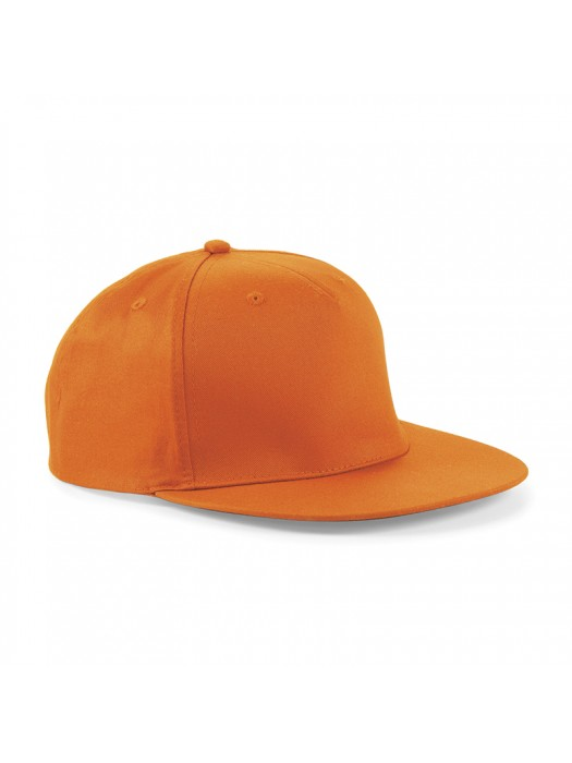 Plain Orange Snapback Rapper Baseball Cap, Orange Snapback Caps
