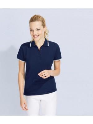 Plain Ladies Practice Tipped Pique Polo Shirt SOLS 270 GSM