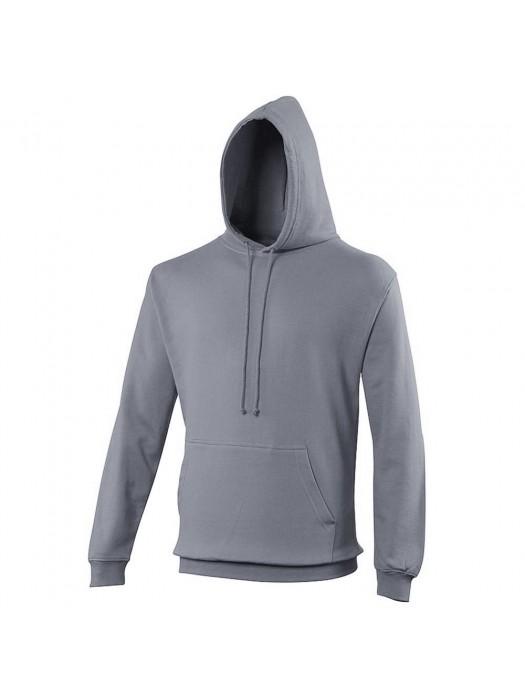 Plain Steel Grey Hoodie