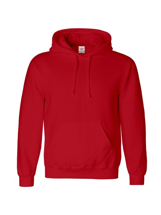 Plain Fire Red Hoodie