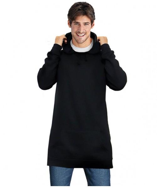 Plain Longline unisex fit Hooded sweatshirts