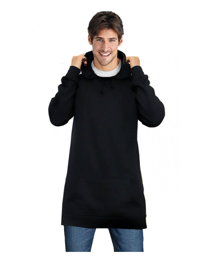 Plain Longline unisex fit Hooded sweatshirts