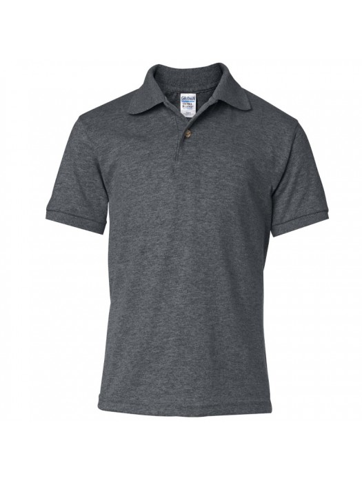 Plain Dark Heather Polo Shirts