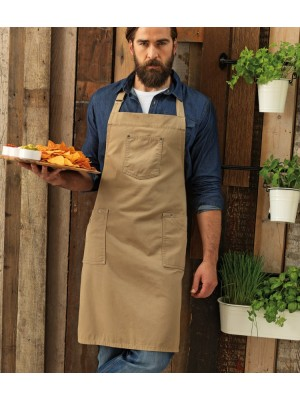 Plain COTTON CHINO BIB APRON PREMIER 235 GSM