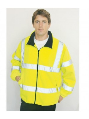 Plain HI-VIS MESH LINED FLEECE JACKET PORTWEST 300 GSM