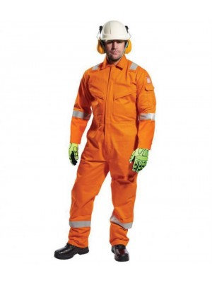 Plain BIZFLAME ANTI-STATIC COVERALL PORTWEST 350 GSM