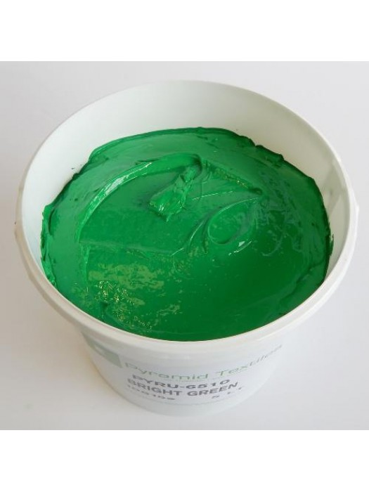 Quality Pyramid brand plastisol ink in Bright Green