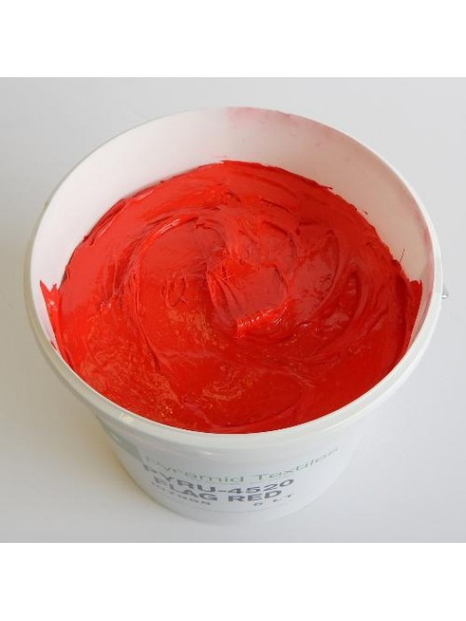 Quality Pyramid brand plastisol ink in Flag Red