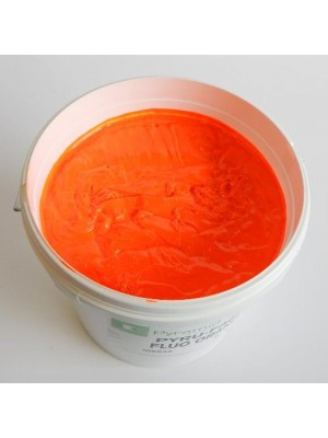 Quality Pyramid brand plastisol ink in Flour Orange