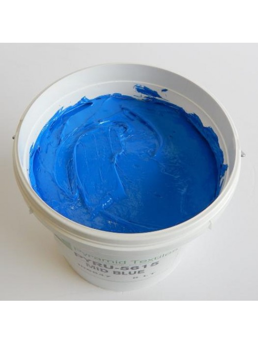 Quality Pyramid brand plastisol ink in Mid Blue