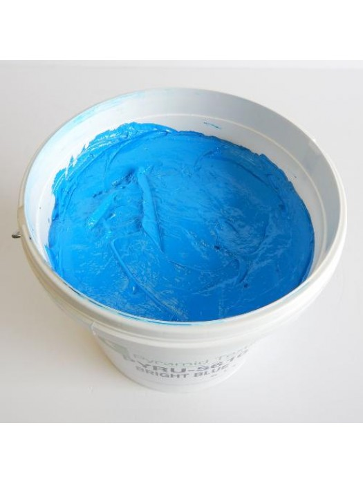 Quality Pyramid brand plastisol ink in Bright Blue