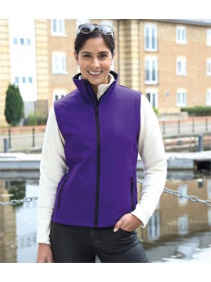 Plain CORE LADIES PRINTABLE SOFT SHELL BODYWARMER RESULT 280 GSM