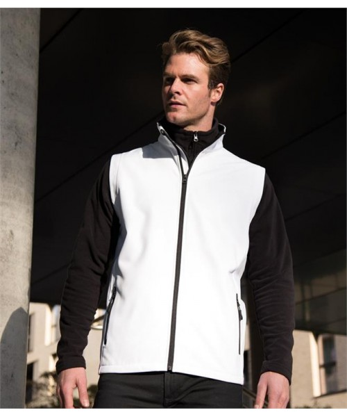 Plain CORE PRINTABLE SOFT SHELL BODYWARMER RESULT 280 GSM