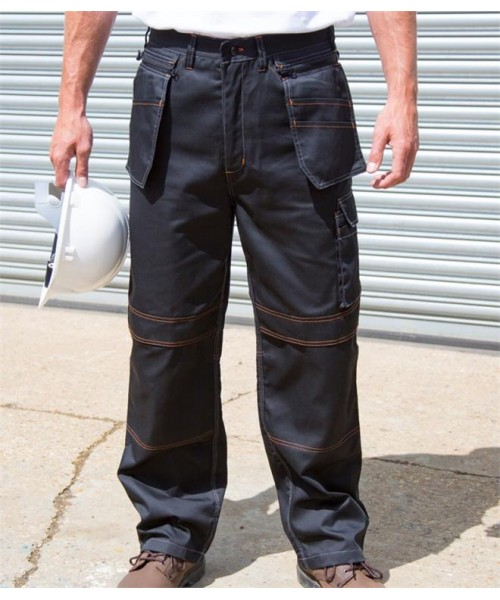 Plain WORK-GUARD LITE UNISEX HOLSTERTROUSERS RESULT 200 GSM