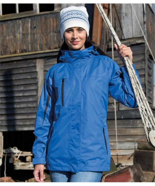 Plain LADIES 3-IN-1 SOFT SHELL JOURNEY JACKET RESULT