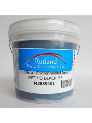 Rutland M3 NPT HO BLACK plastisol screen print ink
