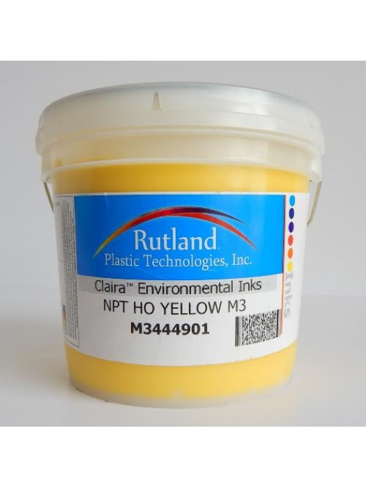 Rutland M3 NPT HO YELLOW plastisol screen print ink