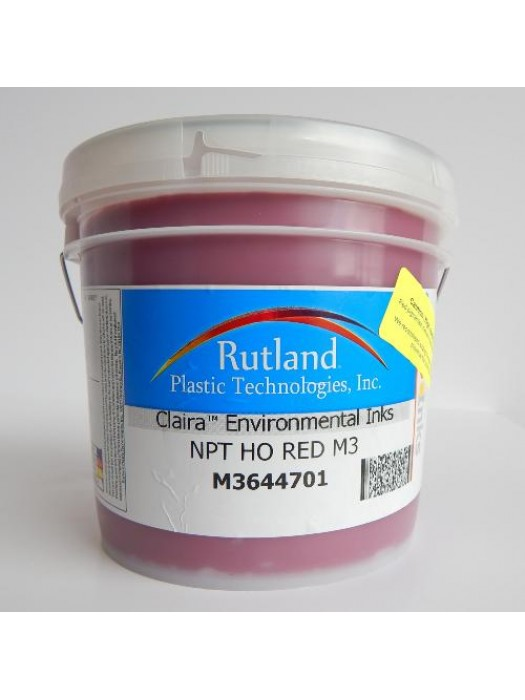 Rutland M3 NPT HO RED plastisol screen print ink
