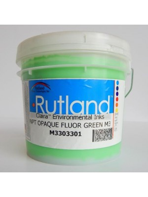 Rutland M3 NPT HO FLOUR GREEN plastisol screen print ink
