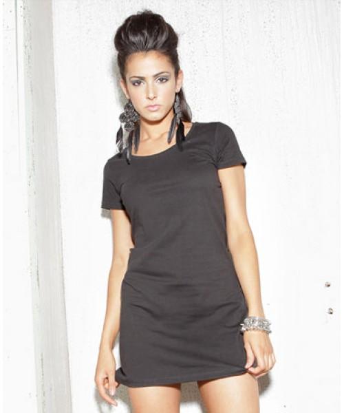 Skinnifit Ladies 100% cotton long length T shirt Dress