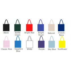 Arctic White SnS Event 100% woven durable cotton tote bag