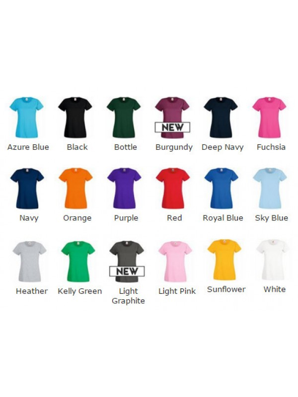 6595f6993 Fruit Of The Loom Lady-Fit Valueweight T-Shirt