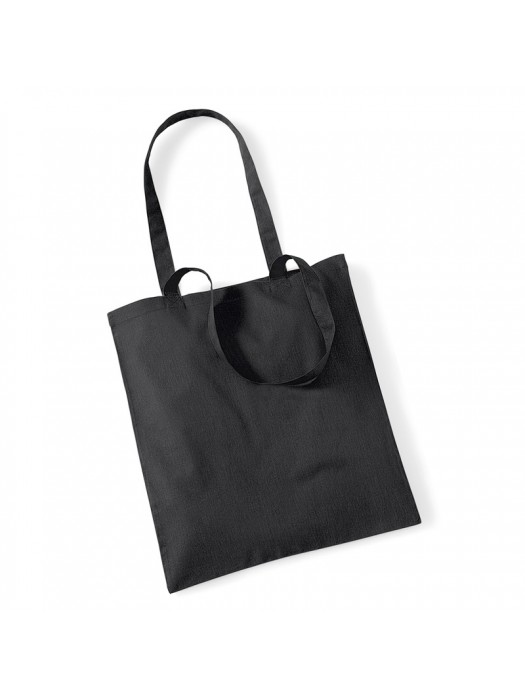 Black Westford Mill Cotton Promo Tote Bag
