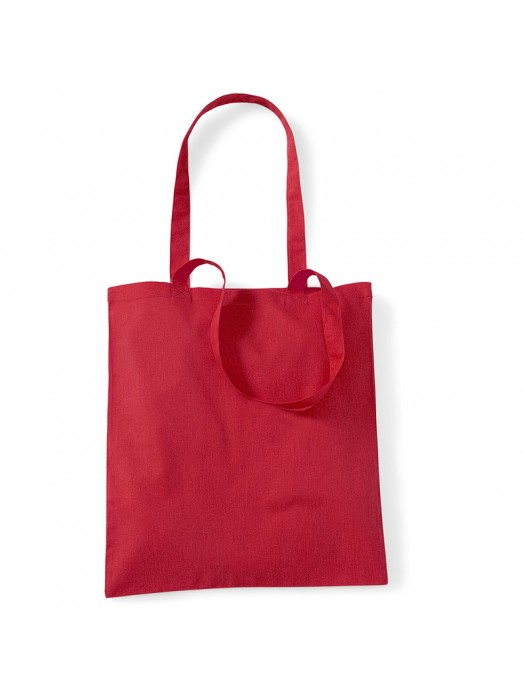 Bright Red Westford Mill Cotton Promo Tote Bag